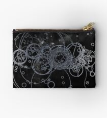 Time Lord Writing (silver) Studio Pouch