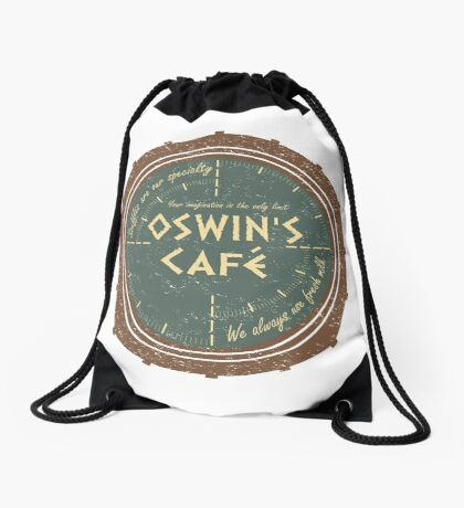 Oswin's Cafe Drawstring Bag