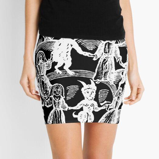 Dance with the Devil  (white)  Mini Skirt