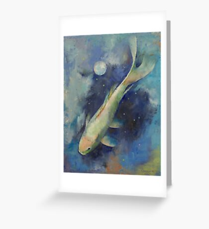 Beneath the Moon and Stars Greeting Card