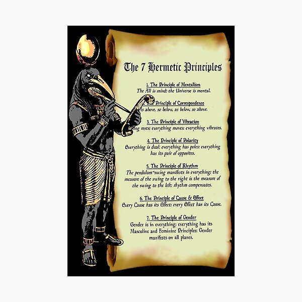 Thoth and The 7 Hermetic Principles Photographic Print