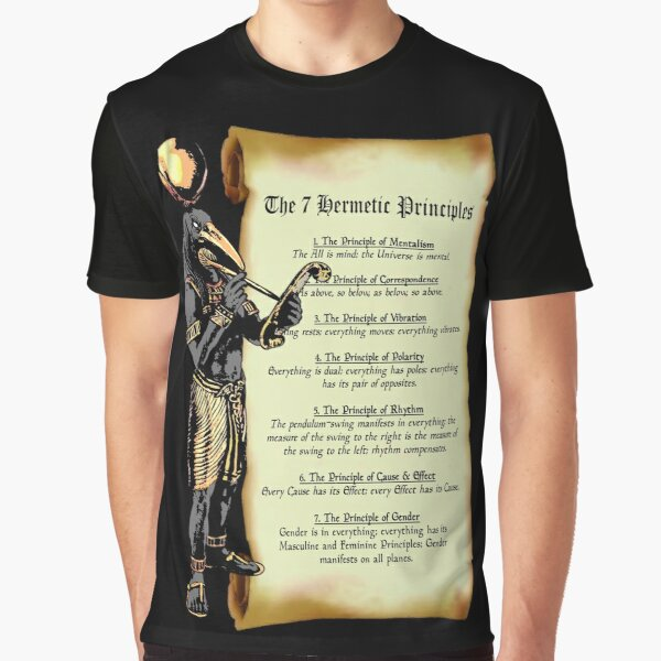 Thoth and The 7 Hermetic Principles Graphic T-Shirt