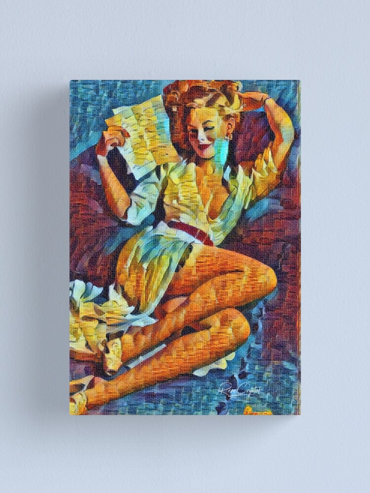 Alternate view of A Pinup Wink From The 40s Canvas Print