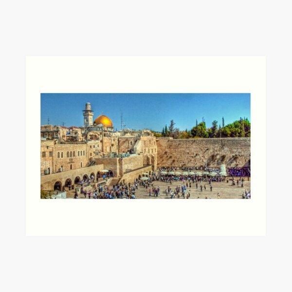The Wailing Wall, Jerusalem Art Print
