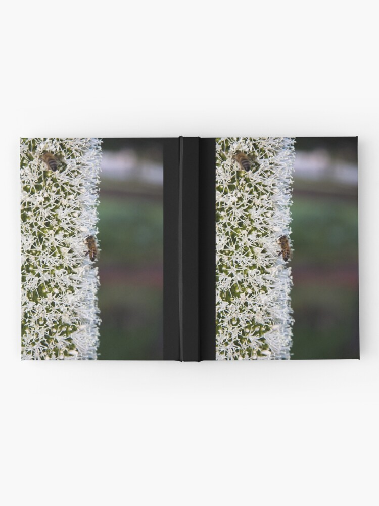 Alternate view of Grasstree flower with bees Hardcover Journal