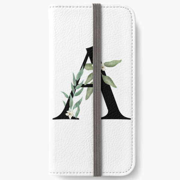 Botanical letter A iPhone Wallet