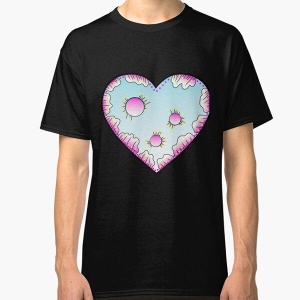 Magisches Herz Pink und Türkis Classic T-Shirt