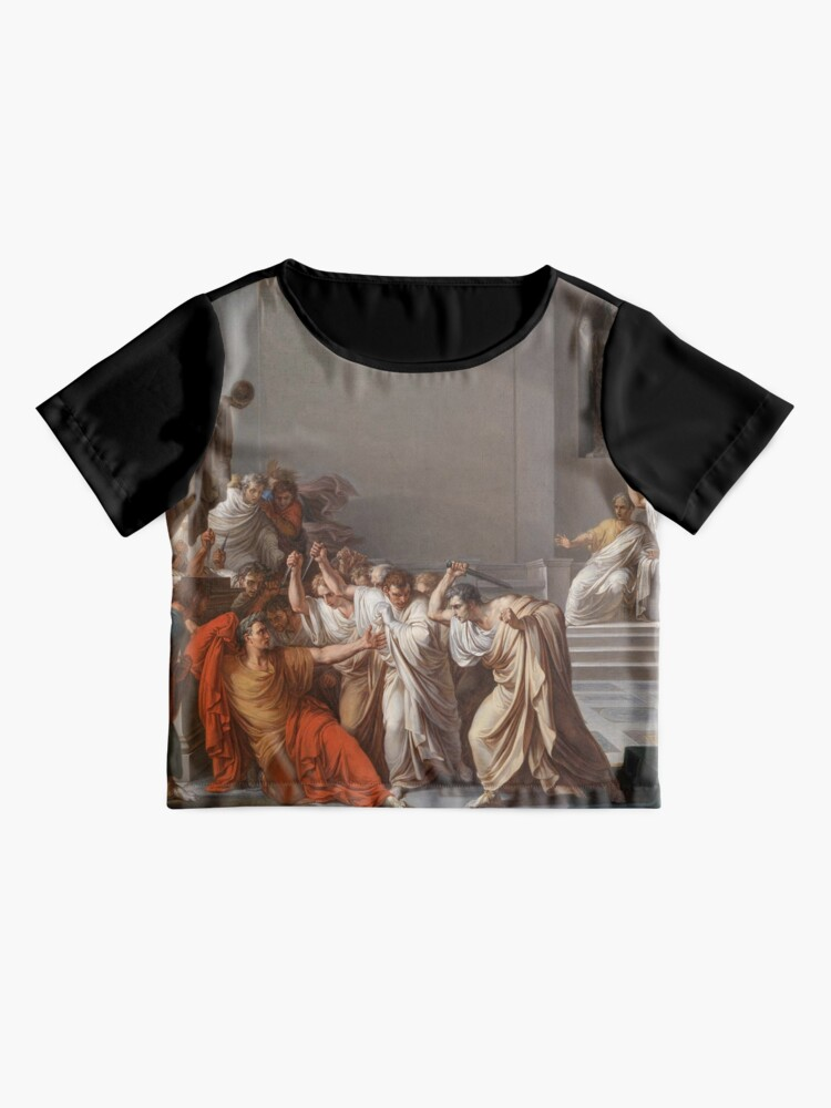 Alternate view of Et tu, Brute? Even you, Brutus? Death of Caesar by Vincenzo Camuccini #DeathofCaesar #Death #Caesar #VincenzoCamuccini  #EtTuBrute #EvenYouBrutus Chiffon Top