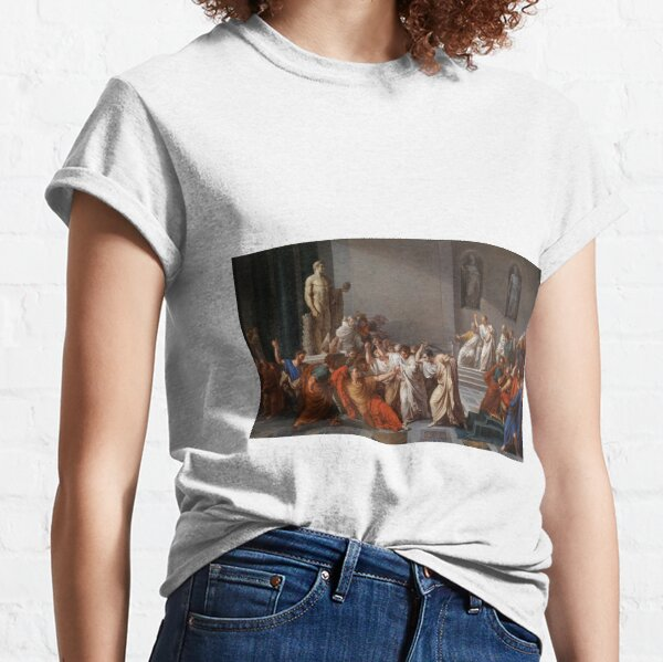 Et tu, Brute? Even you, Brutus? Death of Caesar by Vincenzo Camuccini #DeathofCaesar #Death #Caesar #VincenzoCamuccini  #EtTuBrute #EvenYouBrutus Classic T-Shirt