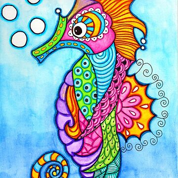 Seahorse Doodle  by coloringiship