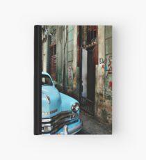 blue car Hardcover Journal