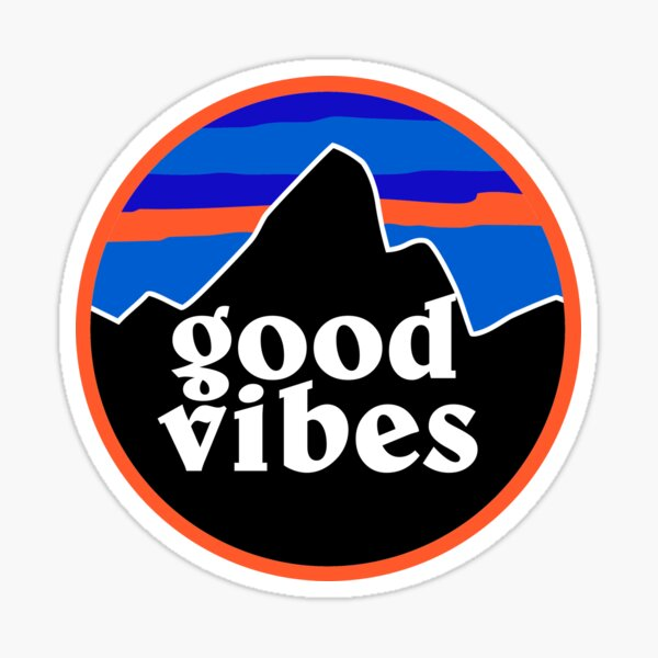 Good Vibes Mountain Sticker