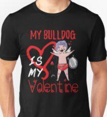 Meine Bulldogge ist mein Valentinsgruß-Shirt Slim Fit T-Shirt