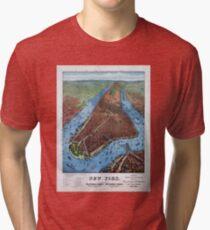 Camiseta de tejido mixto New York Vintage Aerial views Restored 1879