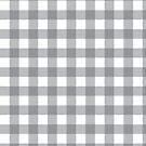 Gray and White Buffalo Plaid Pattern by ValeriesGallery