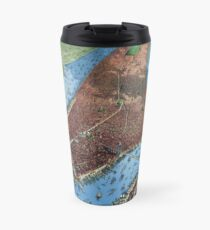 Taza de viaje New York Vintage Aerial views Restored 1879