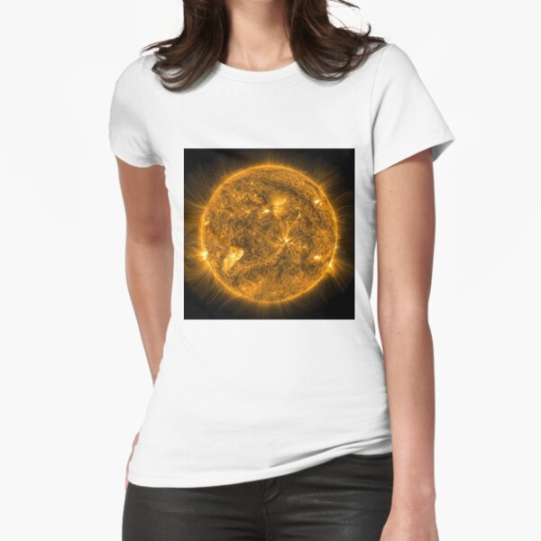 Sun, Circle, 2D shape, abstract, science, sphere, fractal, proportion, energy, design, dark, physics, large, luminosity Fitted T-Shirt