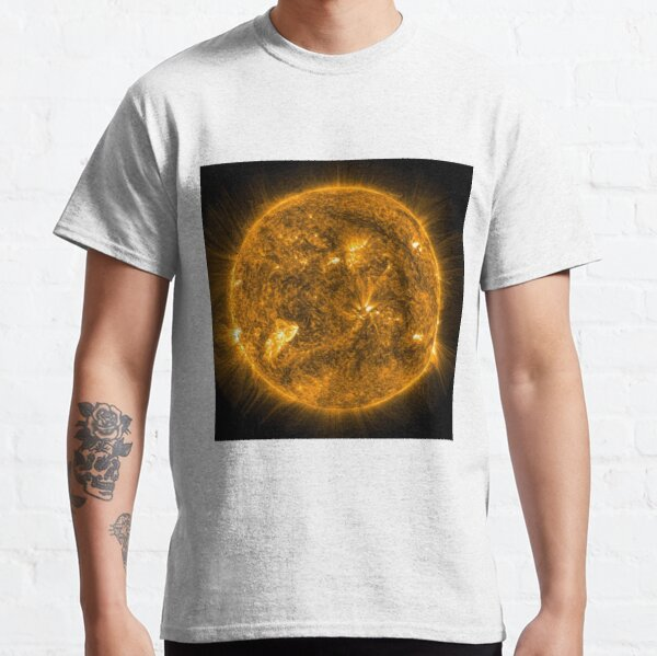 Sun, Circle, 2D shape, abstract, science, sphere, fractal, proportion, energy, design, dark, physics, large, luminosity Classic T-Shirt