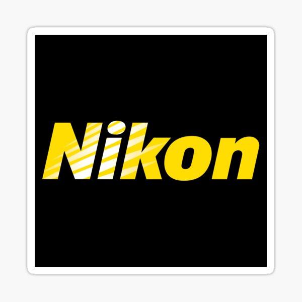 Nikon en hommage noir et jaune Sticker