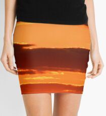Orange And Black Mini Skirt