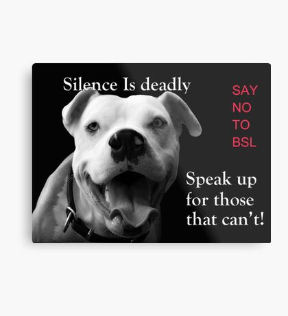 Silence Is Deadly Metal Print