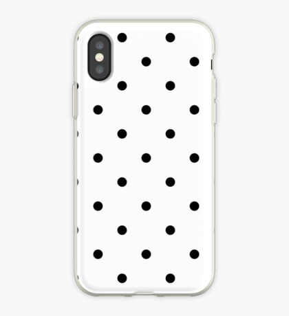 Polka Dots - Black and White Vinilo o funda para iPhone