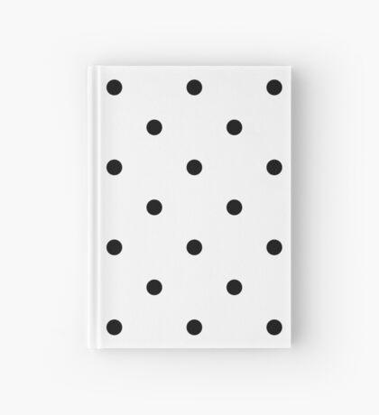 Polka Dots - Black and White Cuaderno de tapa dura