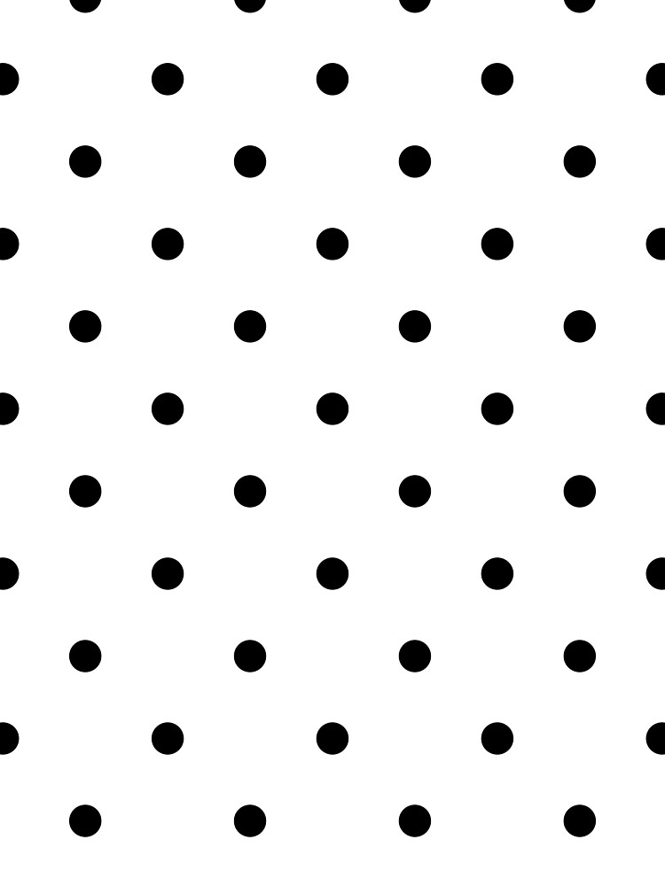 Polka Dots - Black and White de colorandpattern