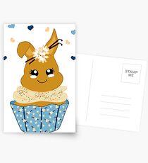 niedlicher Häschen Cupcake Postkarten