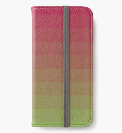 Gradient Lines Magenta Green Funda tarjetero para iPhone