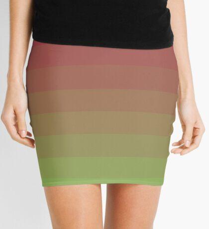Gradient Lines Magenta Green Minifalda