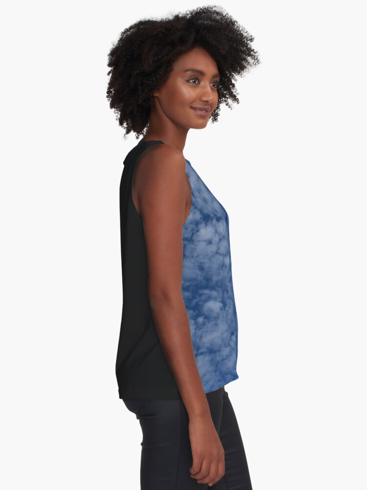 Alternate view of Altocumulus Abstract 2 Sleeveless Top