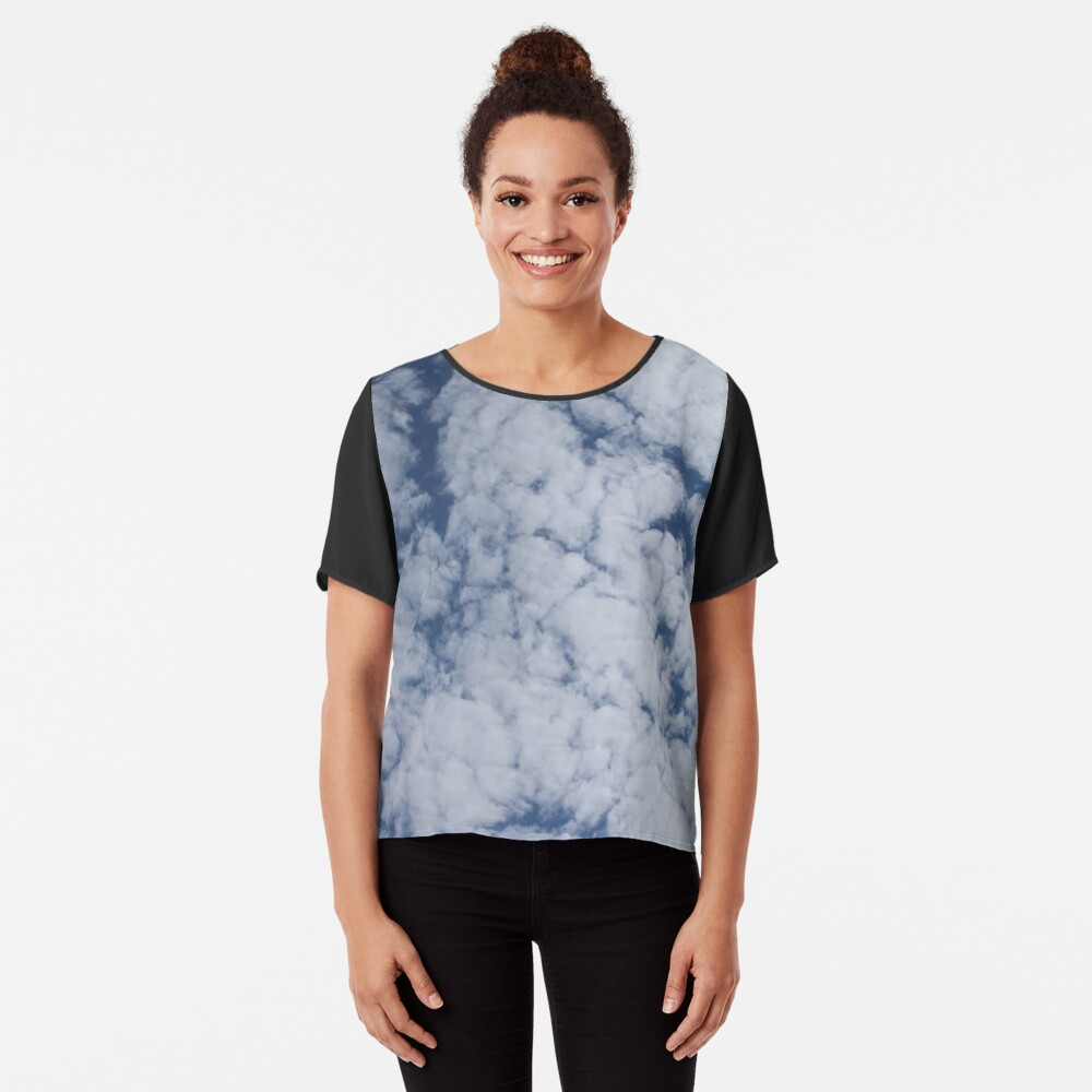 Altocumulus Abstract 1 Chiffon Top