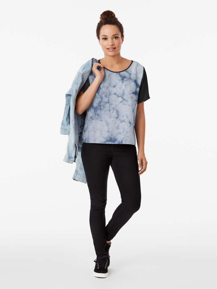 Alternate view of Altocumulus Abstract 1 Chiffon Top