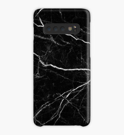 Patrón de textura de piedra de mármol negro Funda/vinilo para Samsung Galaxy