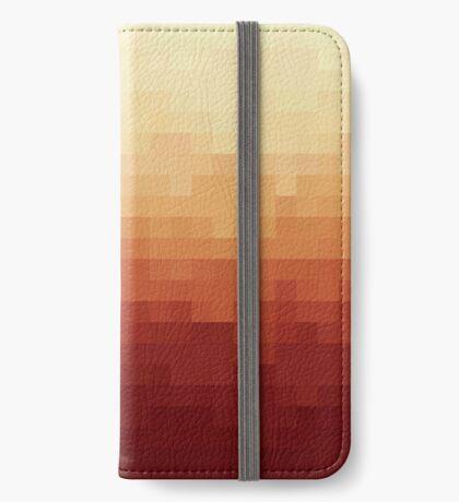 Gradient Red Fire Pixels Funda tarjetero para iPhone