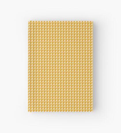 Geometría Gradiente - Mostaza Cuaderno de tapa dura