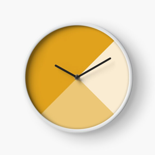 Gradient Geometry - Mustard Clock