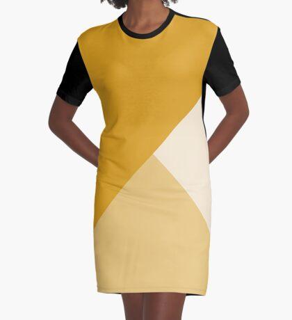 Geometría Gradiente - Mostaza Vestido camiseta