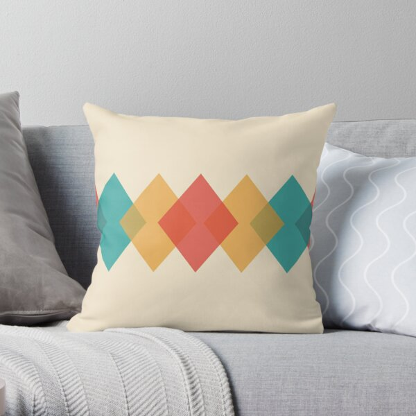 Mid Century Rhombus Throw Pillow