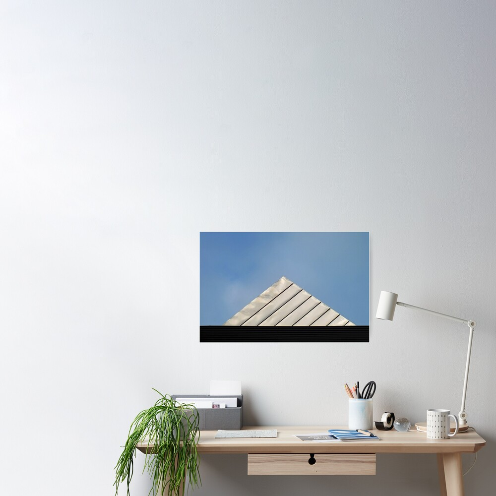 Pyramid Roof Poster By Yampimon Redbubble