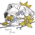 MorbidiTea -  Vanilla Pu-erh with a Porcupine Skull by MicaelaDawn