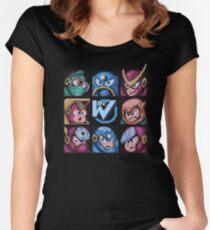 Mega Robot Bosses 2 Women's Fitted Scoop T-Shirt