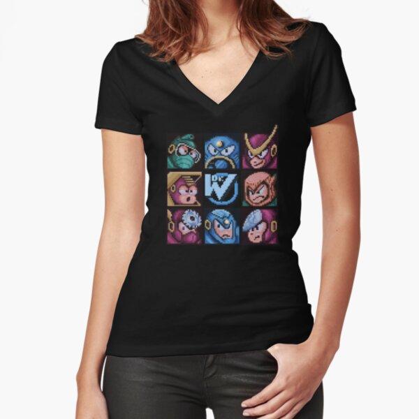 Mega Robot Bosses 2 Fitted V-Neck T-Shirt