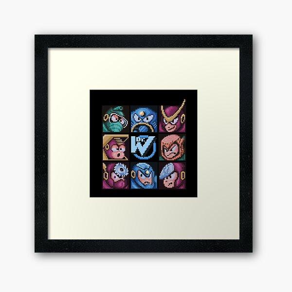 Mega Robot Bosses 2 Framed Art Print