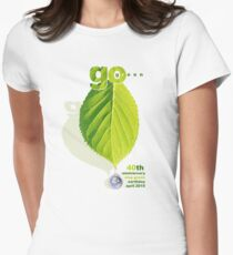 earthday go green Womens Fitted T-Shirt