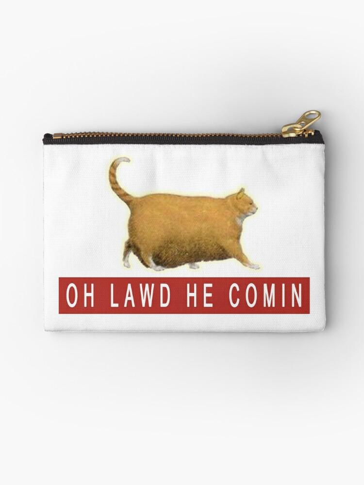 Christmas In July Cat Meme.Chonk Cat Meme Zipper Pouch By Huschild