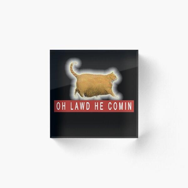 Chonk Cat Meme   Acrylic Block