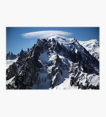 White Cap:  The Summit of Mont Blanc Photographic Print
