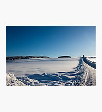 Snowy Aberdeenshire countryside Photographic Print
